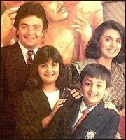 Ranbir Kapoor childhood photo with family